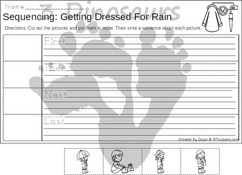 Sequencing: Getting Dressed for Rain