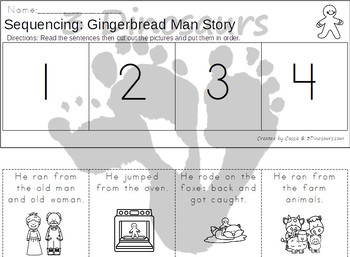 Sequencing:  Gingerbread Man Story