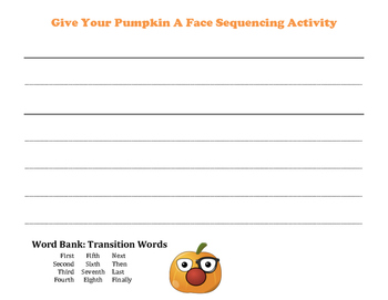 Sequencing - Give your pumpkin a face!