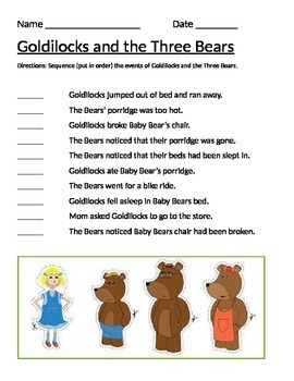 Sequencing Goldilocks and the Three Bears
