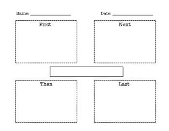 Sequencing Graphic Organizer ~ First, Next, Then, Last