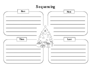 Sequencing Graphic Organizer For Seasonal / Holiday Trade Books