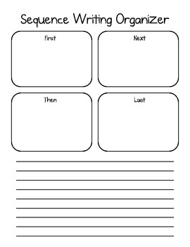 Sequencing Graphic Organizer for Writing - First, Then, Next, Last