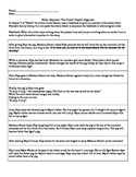 """Sequencing Graphic Organizer that accompanies """"Holes"""" by L"""