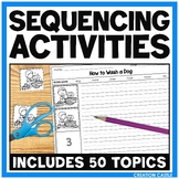 Sequencing Stories with Picture Cards and Worksheets