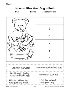 Sequencing: How to Give Your Dog a Bath