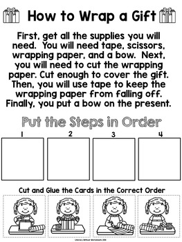 Sequencing How to Wrap a Gift