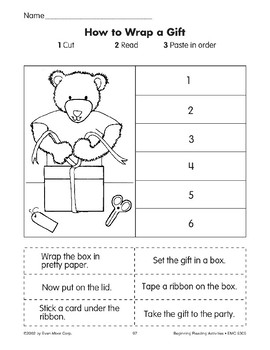 Sequencing: How to Wrap a Gift