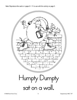 Sequencing: Humpty Dumpty
