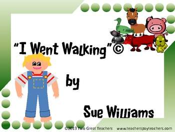"Sequencing ""I Went Walking"""