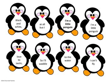 """Sequencing """"I'm a Little Penguin"""""""