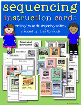 Sequencing Instruction Cards & Lesson for beginning writers