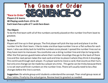 Sequencing Integers Game