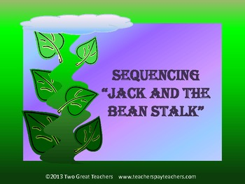 "Sequencing ""Jack and the Beanstalk"""