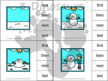 Sequencing: Life Cycle of a Snowman