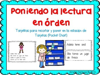 Sequencing Lines in a Passage (Spanish) A Pocket Chart Activity