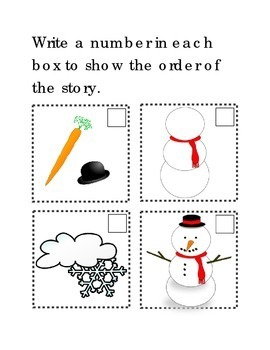 Sequencing Make A Snowman Following Directions Comprehension Emergent Reader