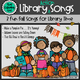Library Action Songs for Fall - Pumpkin Pie, Falling Leave