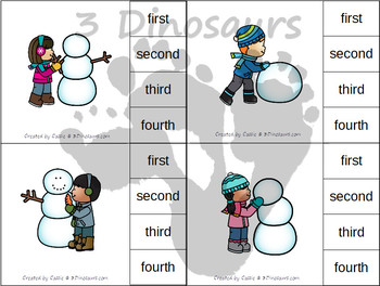 Sequencing: Making A Snowman