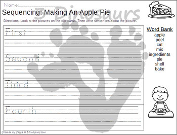 Sequencing: Making An Apple Pie