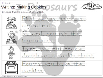 Sequencing: Making Cookies