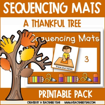 Sequencing Mats- How to Make a Thankful Tree {Free}