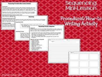 Sequencing Mini-Lesson & Practice