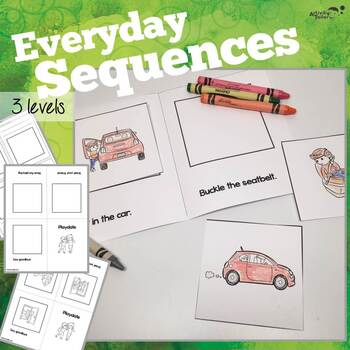 3 Step Sequencing Mini-books for Everyday Themes