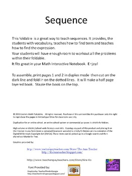 Sequencing Minilesson Foldable for Interactive Notebook