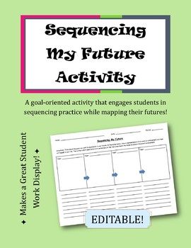 Sequencing My Future Activity    Sequencing Practice Extension {EDITABLE!}