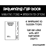 Sequencing Narrative Stories Flip Book Graphic Organizer
