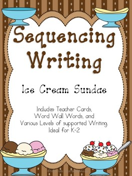 Sequencing, How to, or Narrative Writing- Banana Split