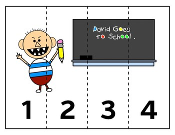 Sequencing Number Puzzles:  David Goes to School