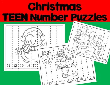 Sequencing Number Puzzles: TEEN NUMBERS