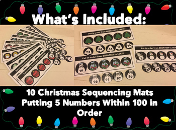 Sequencing Numbers 1-100 Christmas Game