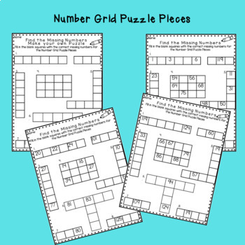 Number Sense: Math:Sequencing Numbers 1-120 Printables Aligned with CC