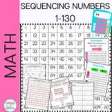 Number Sense Math: Sequencing Numbers 1-130 Printables Aligned with CC
