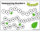 Sequencing Numbers 1-25 - Nature Theme