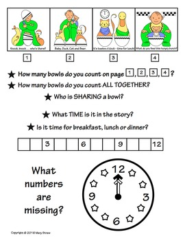 Sequencing+Numbers Activity Coloring Pages