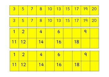 Sequencing Numbers - Differentiated