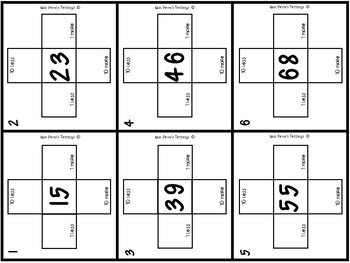 Sequencing Numbers 1 less/more and 10 less/more to 120