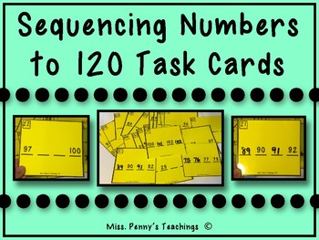 Sequencing Numbers to 120 Task Cards