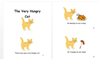Sequencing (Order of Events) The Very Hungry Cat