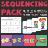 Sequencing Pack: Cards + No Prep Homework Sheets & Puzzles