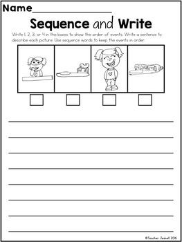 Sequencing - Sequence of Events Writing