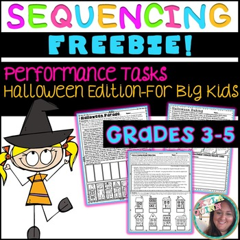 Sequencing Performance Tasks-Halloween Edition-Printables FREEBIE