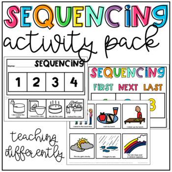 Sequencing Mats {Cut & Paste, Velcro, & Writing Activities}