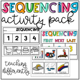 Sequencing Activities - Picture Card Mats, Sequence & Write, Cut & Paste