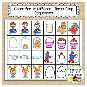 Sequencing Picture Interactive Book for Preschool and Kindergarten