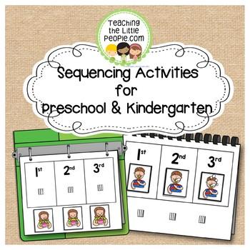 Sequencing Picture Interactive Book for Preschool and Kindergarten